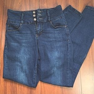 BLUENOTES DENIM HIGH RISE SKINNY JEANS 3 BUTTONS